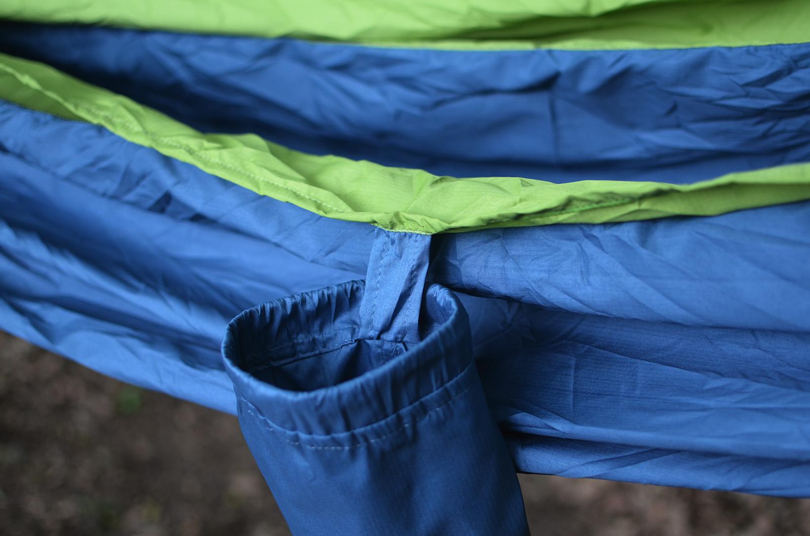 Hamac Ripstop Blue-Green detaliu saculet
